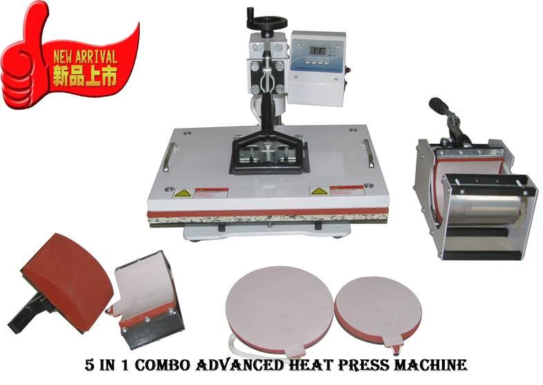Advanced New Design Digital 5 in 1 heat press machine.image DIY clothes photo printer