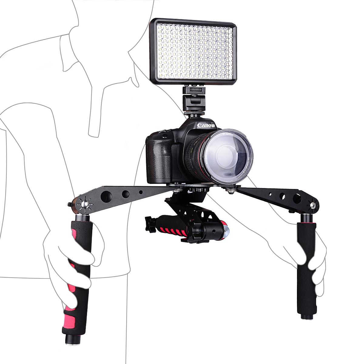 YELANGU Multi Flexibility Low Angle Shooting DSLR Shoulder Rig For 5D2,60D,D90