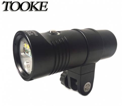 TOOKE D2600 2400 Lumens Scuba Diving Video Light Photographic Lighting Waterproof Flashlight 100m Un