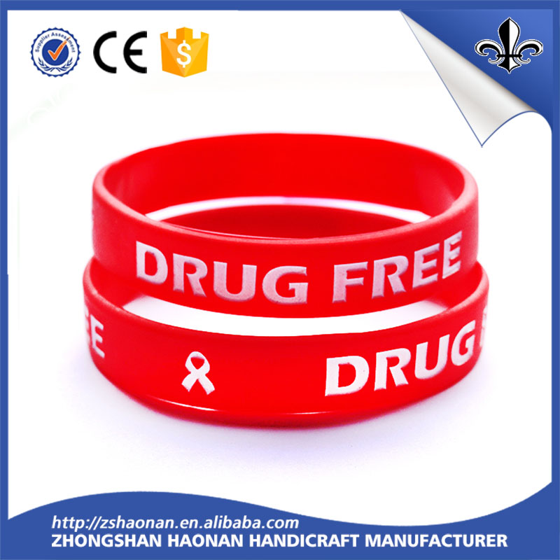 Manufacture cheap customized silicone rubber hand bands
