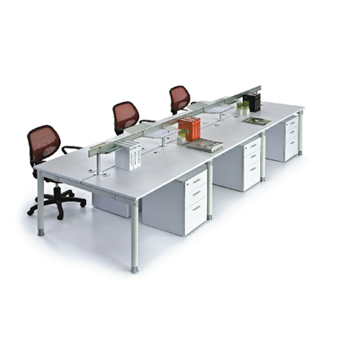 6 Person Workstation with Height Adjustable Open Space Desk
