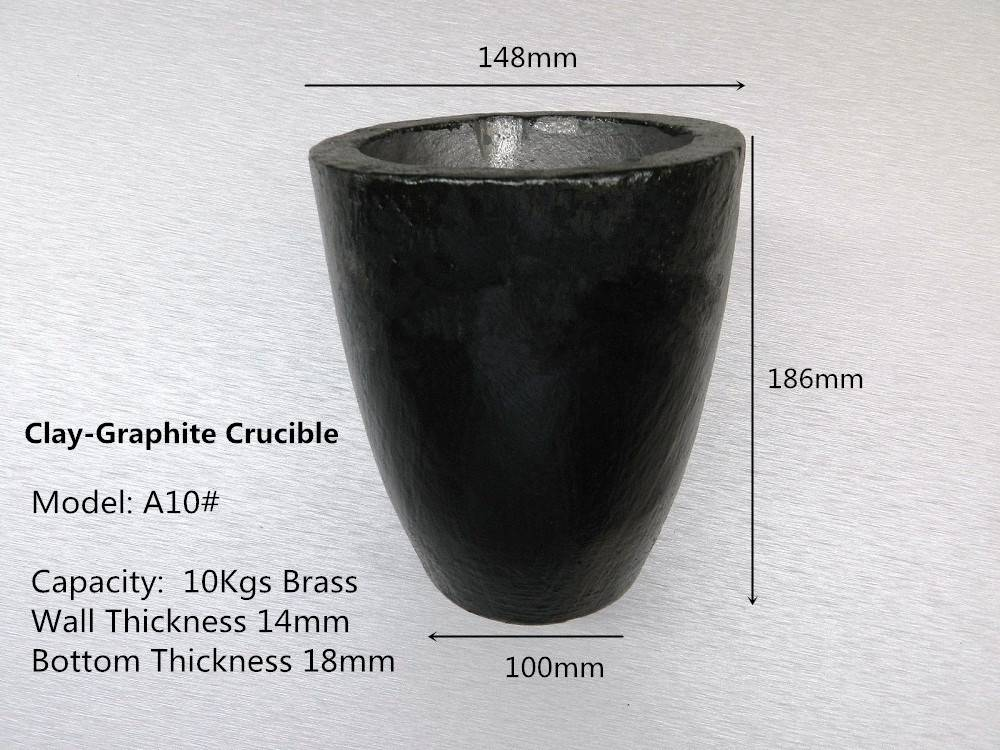 A10# Clay Graphite Crucible for 10kg brass casting /Graphite Crucible Cup with Base for Jeweler Melt