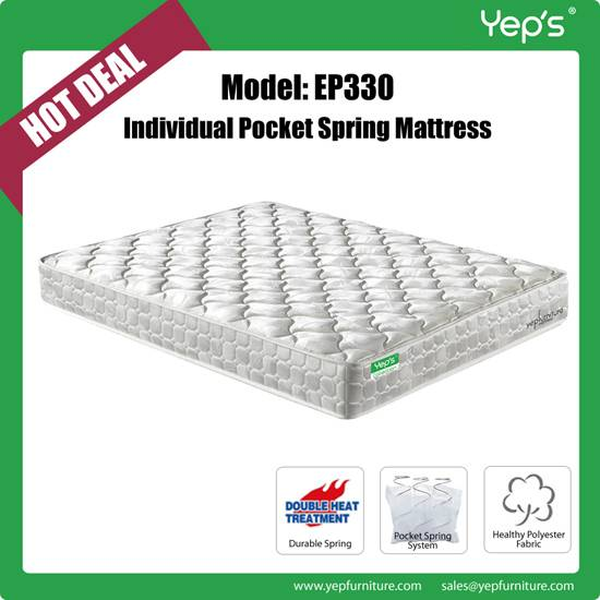 Comfortable Compressed Cheap Price Individual Pocket Spring Mattress For Burdget Hotels