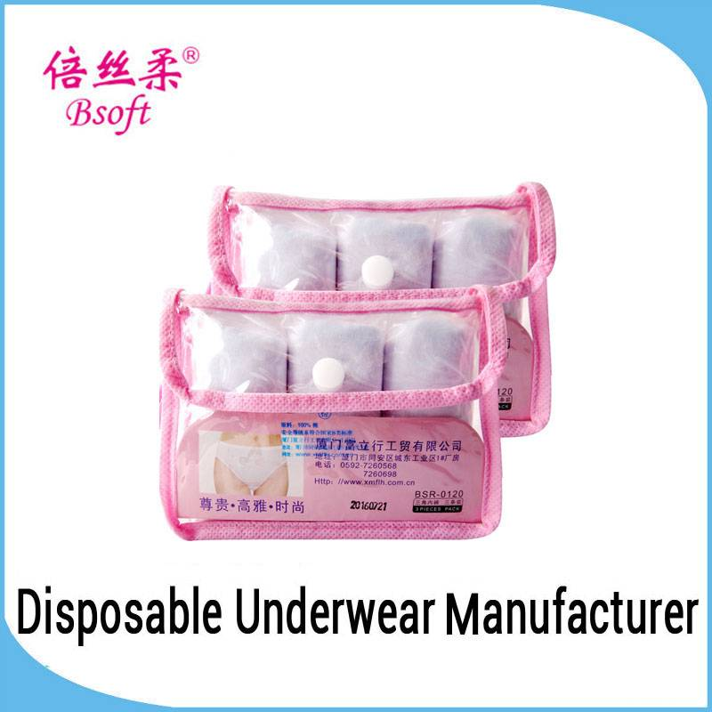 Woman Sexy Lingerie OEM Service Comfortable Disposable Mature Women Underwear For Traveling