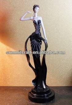 European noble girl antique high-grade resin sexy lady figurine birthday gift