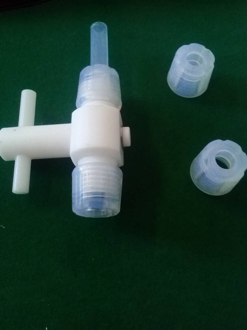 Electrolytic tank sampling valve with PFA material
