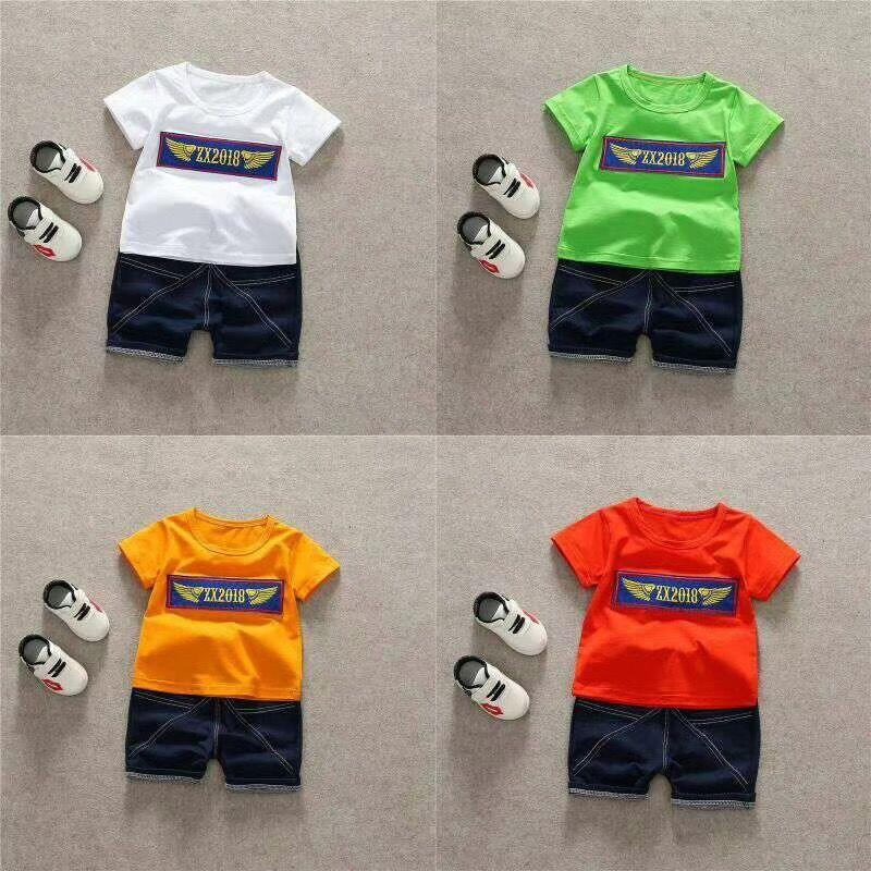 Children Kids Boys Clothing OEM Stock Printed T shirt