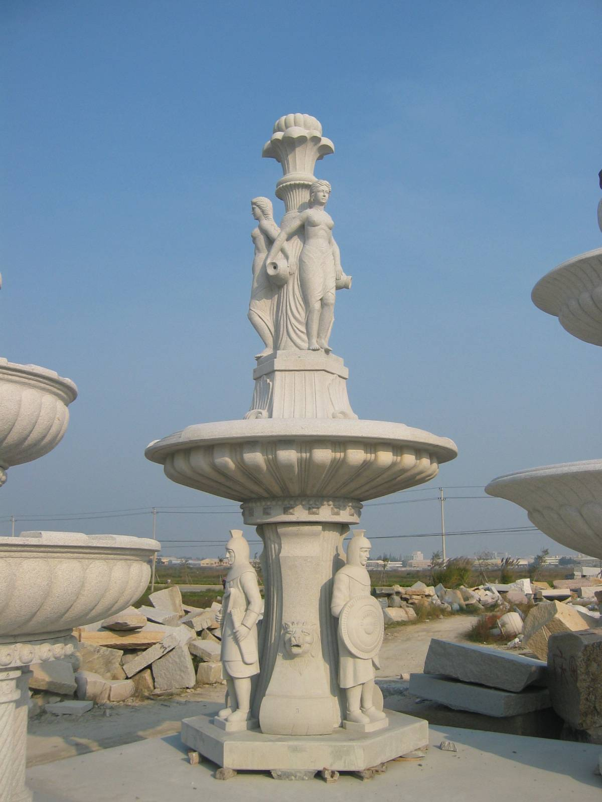 hand carved outdoor decoration stone fountain for  sale