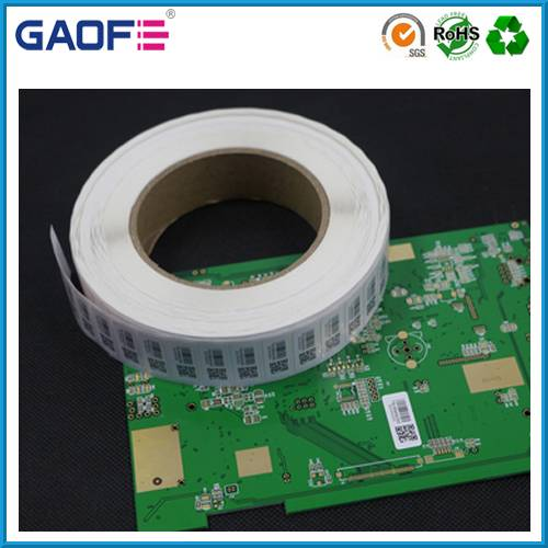 PCB Barcode Label Sticker Paper, Custom Printing Sticker Roll, Self Adhesive Polyimide Labels