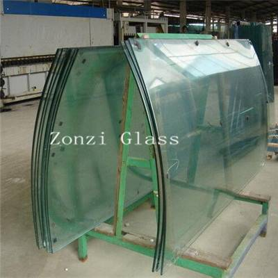 Qingdao Low-E Tempered Bent Insulated Window Glass