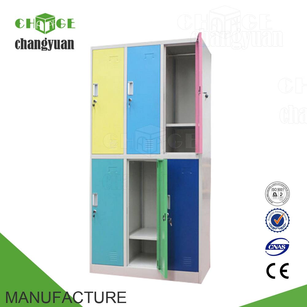 colourful  6 doors  steel  locker/  metal  wardrobe/  clothes  cabienet