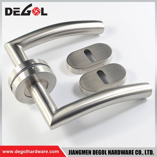 Fancy stainless steel tube double side level door handle