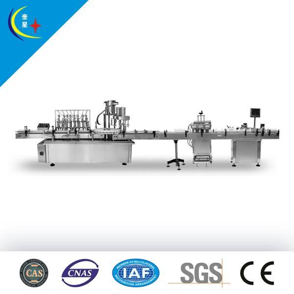 YXT-PL Automatic linear liquid bottle packaging line