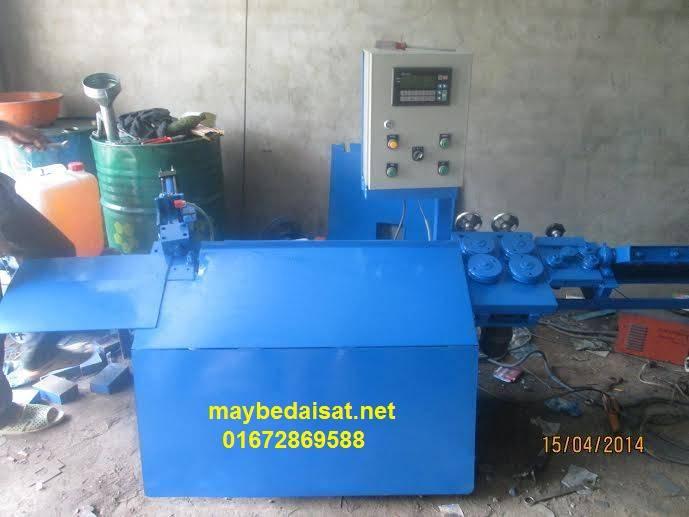 Automatic rebar straightening-bending-cutting machines