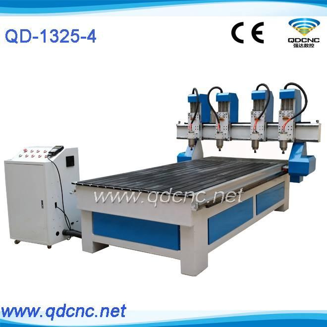 25% discounted 4 heads furniture cnc router machine/multi head woodworking machine QD-1325-4