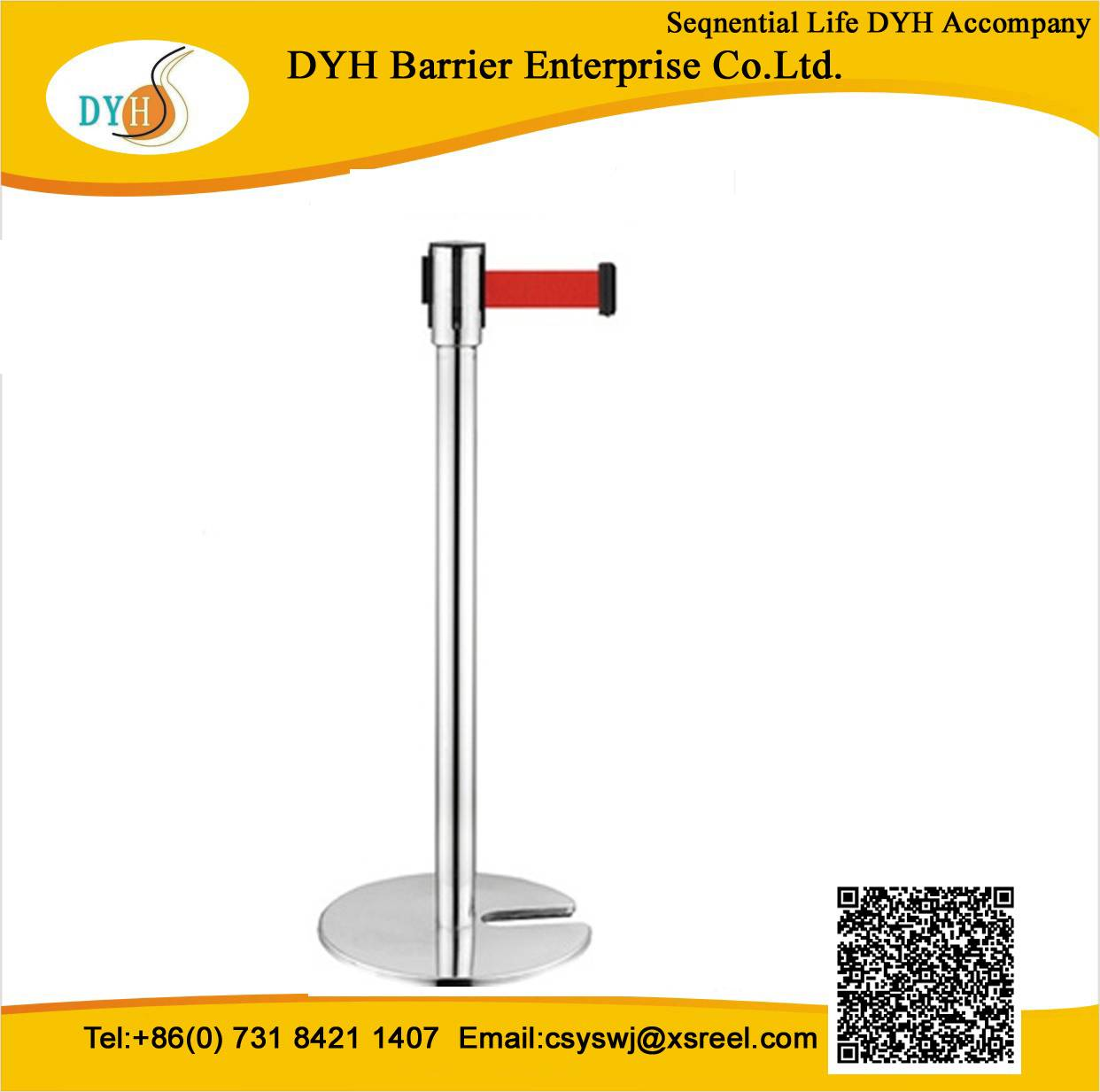 DYH 2014 Crowd control barrier Retractable belt barrier
