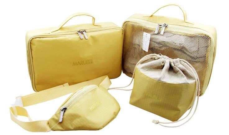 OEM customized bags set include cosmetic bag,waist bag,cooler bag