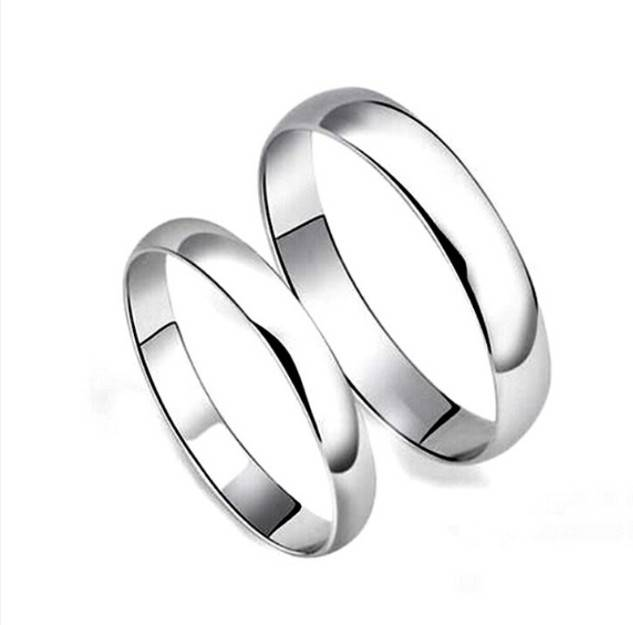 Solid Silver Wedding Ring for Couples, Eternity Silver Ring