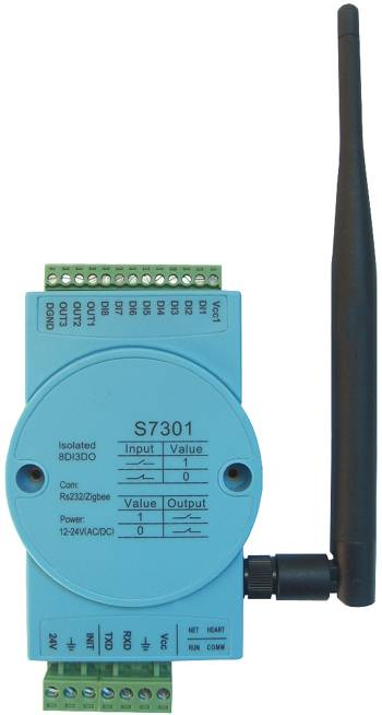 S7301:8-ch isolated digital input,3-ch isolated digital output,zigbee