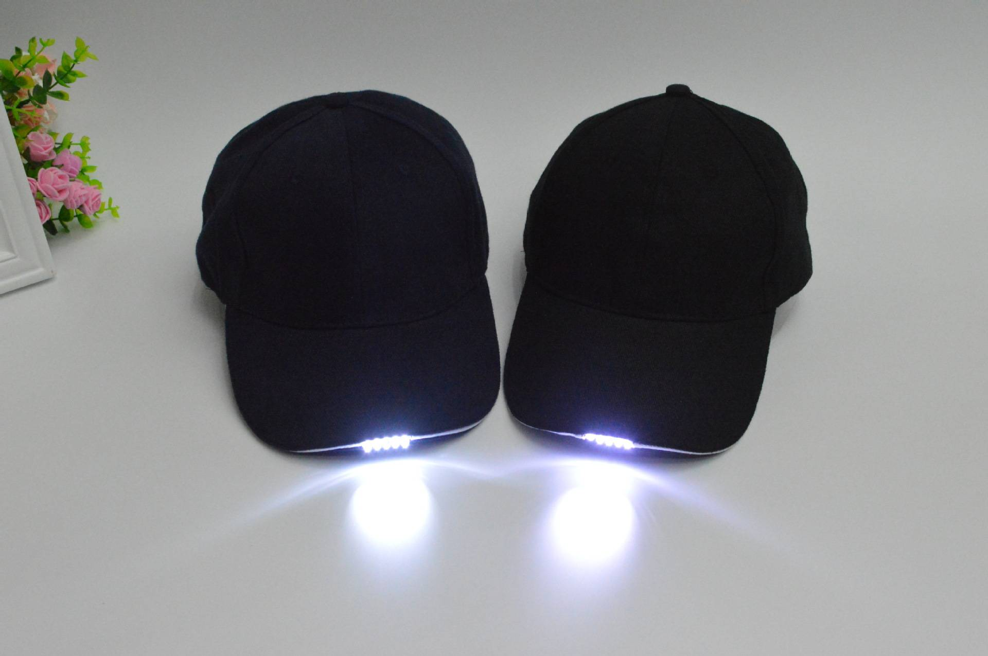 Fast Delivery Custom LED Baseball Caps With Built-in Led Lights