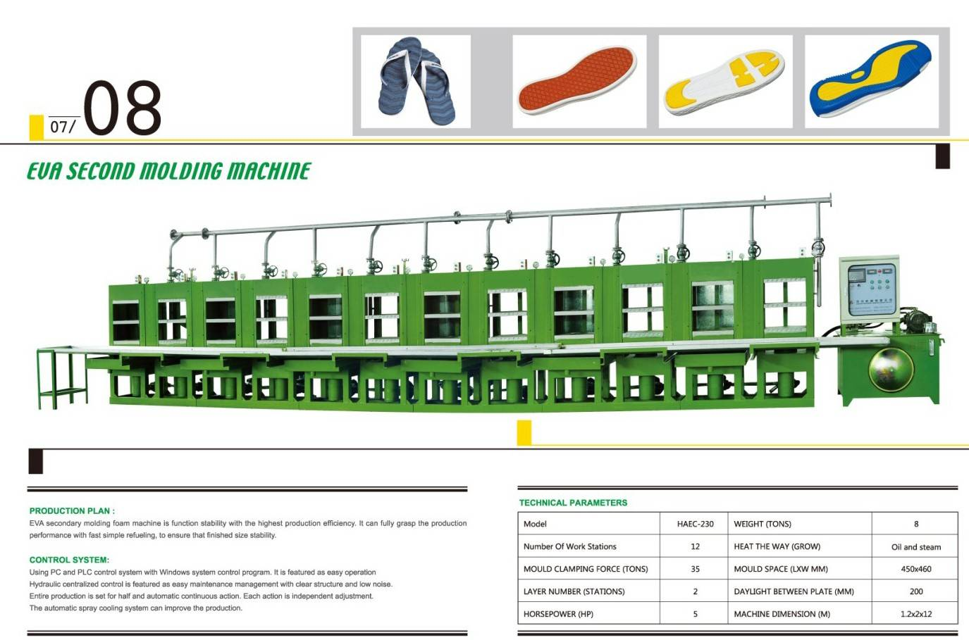 phylone sole molding machine