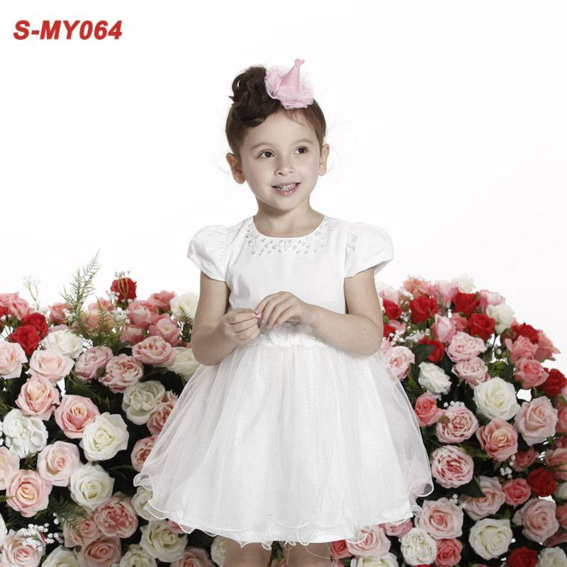 Latest children dress designs prom party dress for little girls