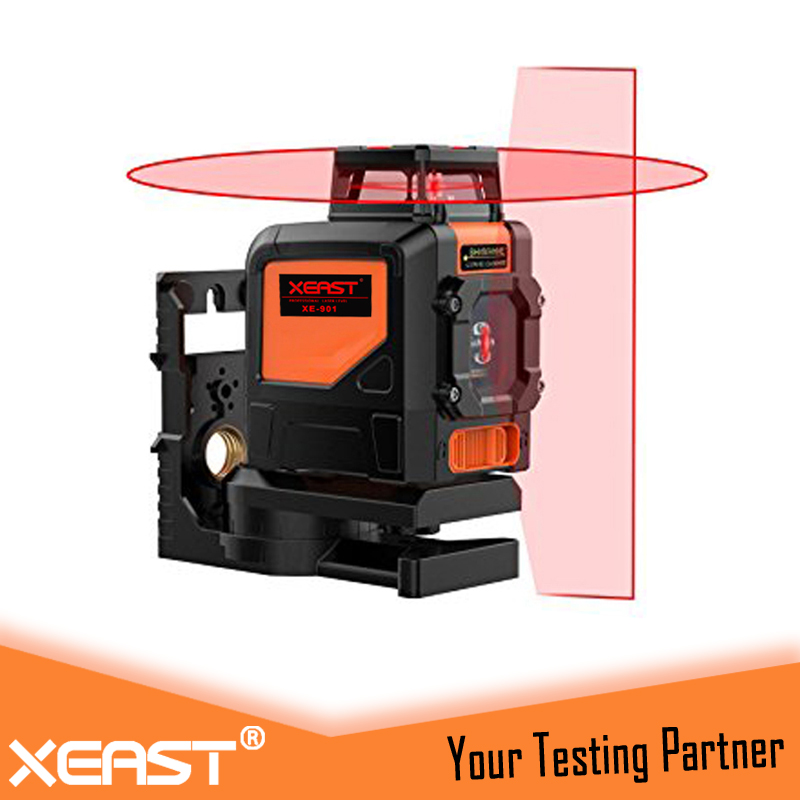 XEAST XE-901R Red Laser Level 360 machine Waterproof Dropresistant Laser Level