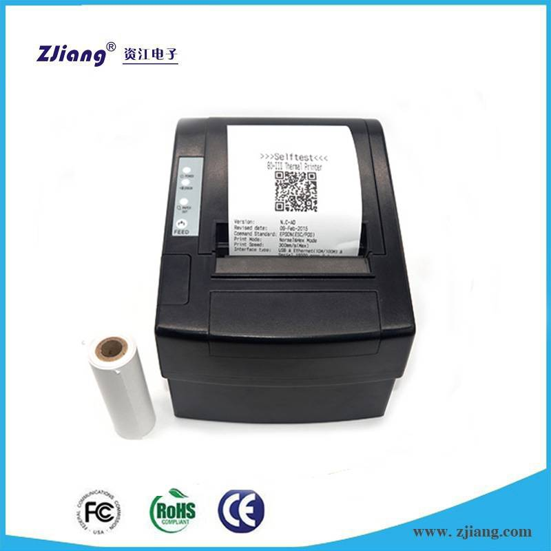 ZJ-8220 bill printer price , 80mm thermal printer , desktop pos printer with auto cutter