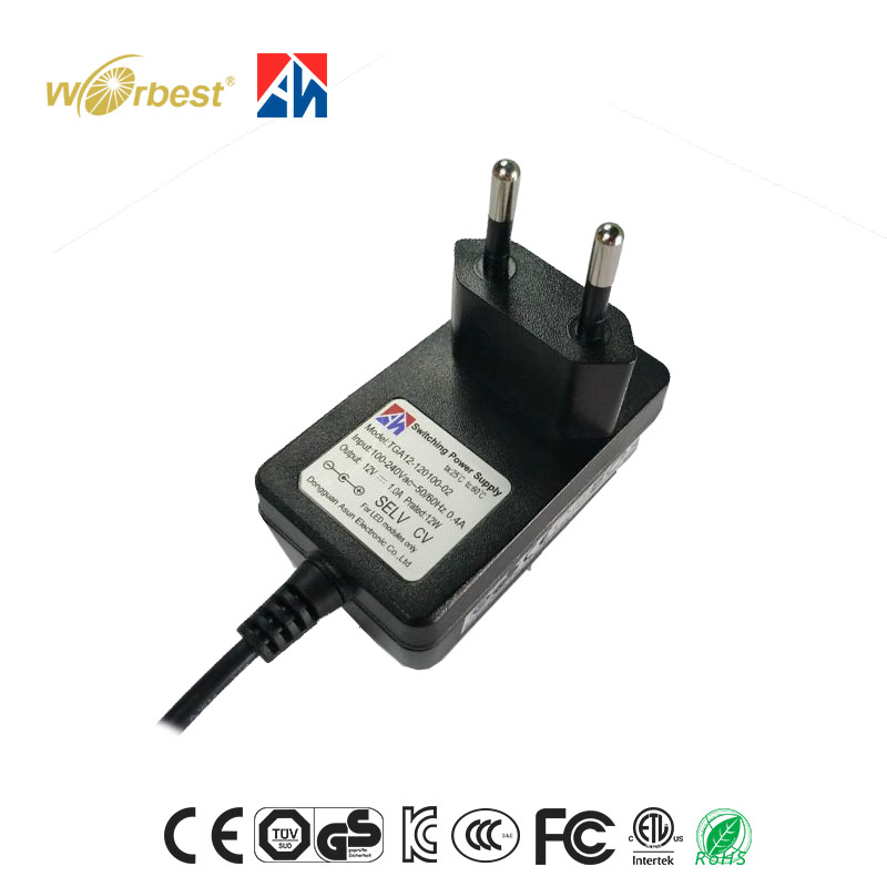 popular electronic adapter 12v 1A ac to dc adapter Class B for LED modules