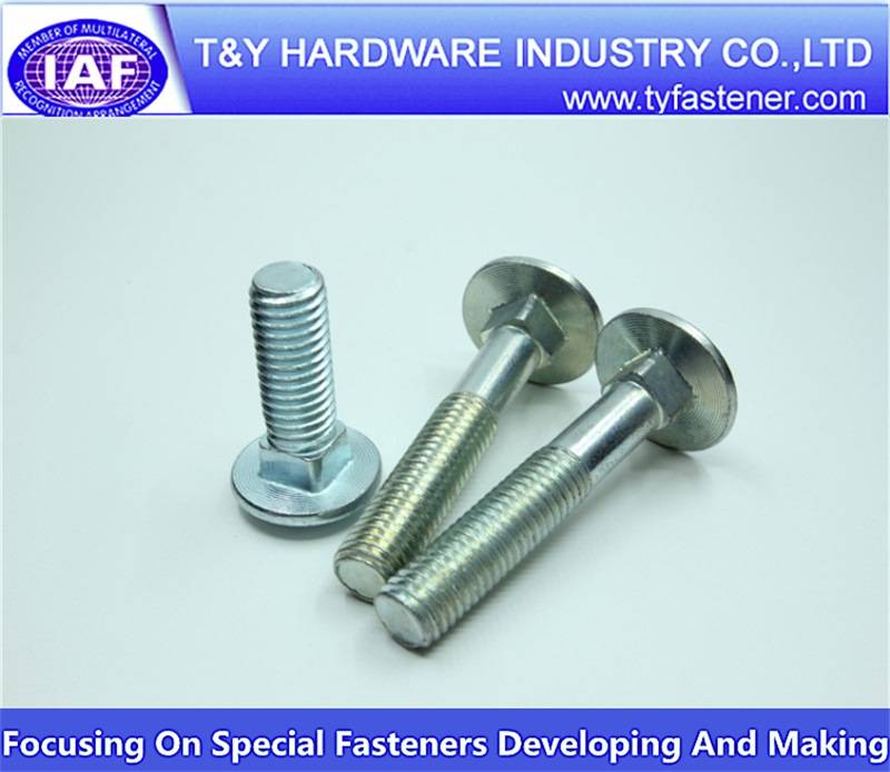 China wholesale a2 m6 carriage bolt with ASTM DIN JIS Standard
