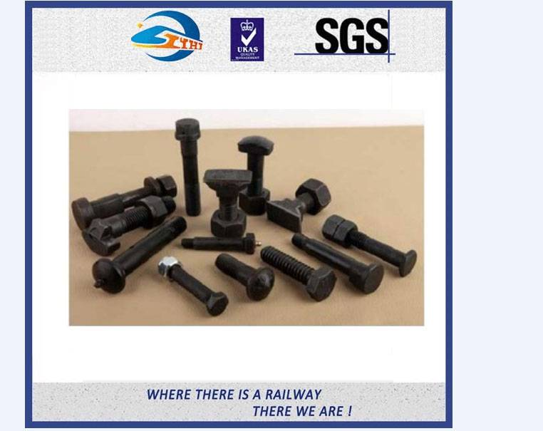 ZhongYue Grade 4.6/5.6/8.8/10.9 Railway Sleeper Track Bolt Clip Bolt With Nut and Washer