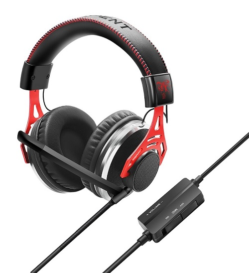 3.5mm Jack Surround Stereo Gaming Headset Over-Ear Headphone with Mic