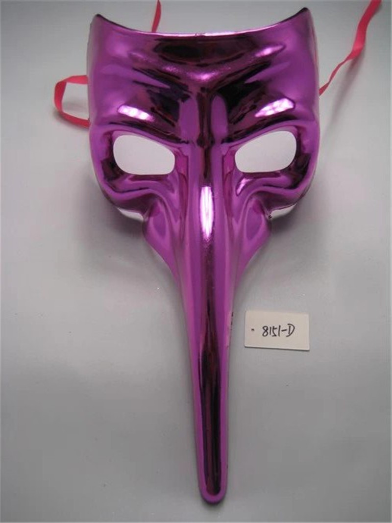 Halloween Carnival Venice Party Full Face Mask Masquerade Long Nose Mask
