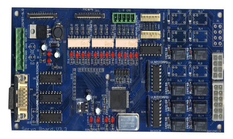 multilayer electronics PCB board with assembly