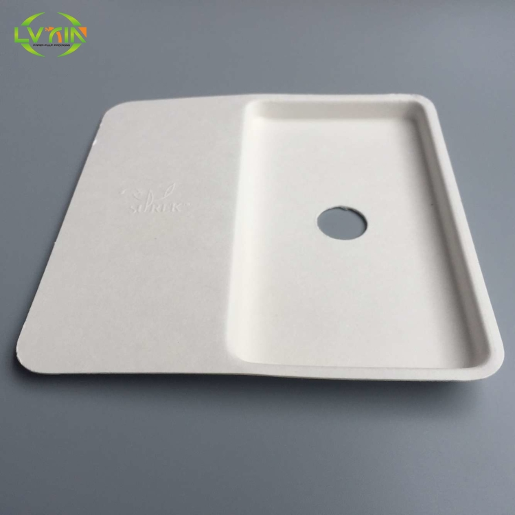 High quality paper bagasse trays cell phone inner pulp packaging