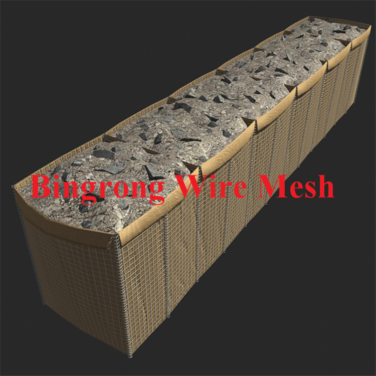 Hesco mesh wall