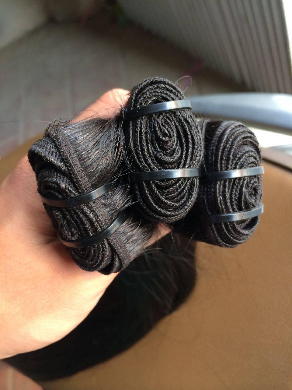 Vietnamese weft large stock grade AAAAA 12-32 inches100% human raw virgin unprocessed weft hair
