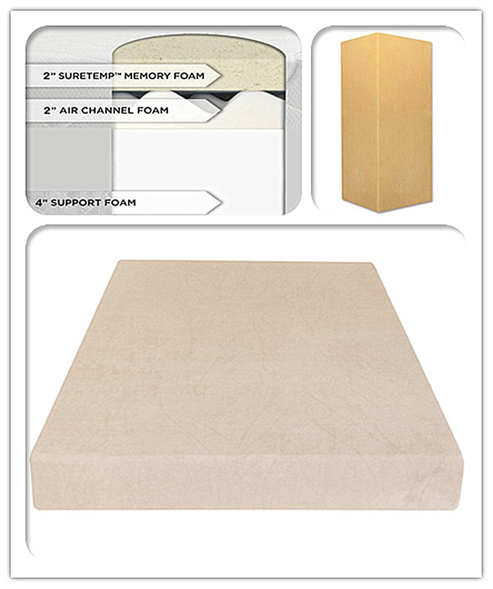 8-Inch SureTemp Memory Foam Mattress 3 layers