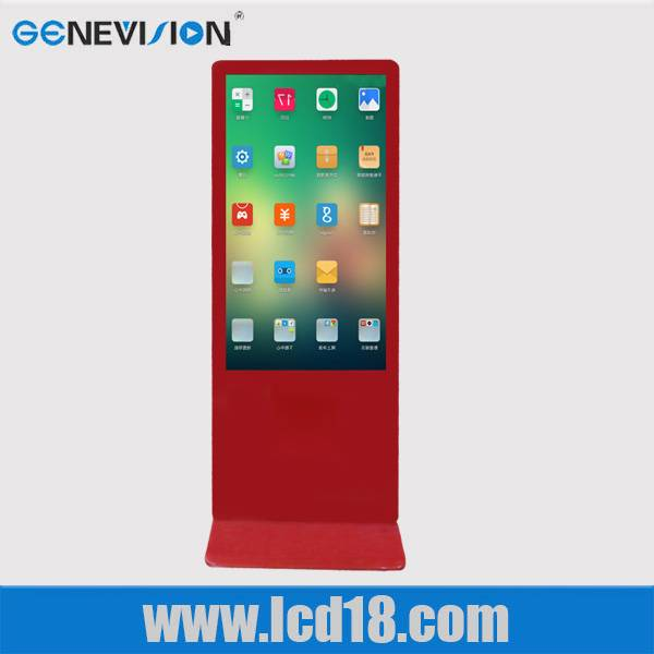 Red 55 inch advertising display ipad appearance 3g wifi digital kiosk LCD/LEDkiosk totem signs