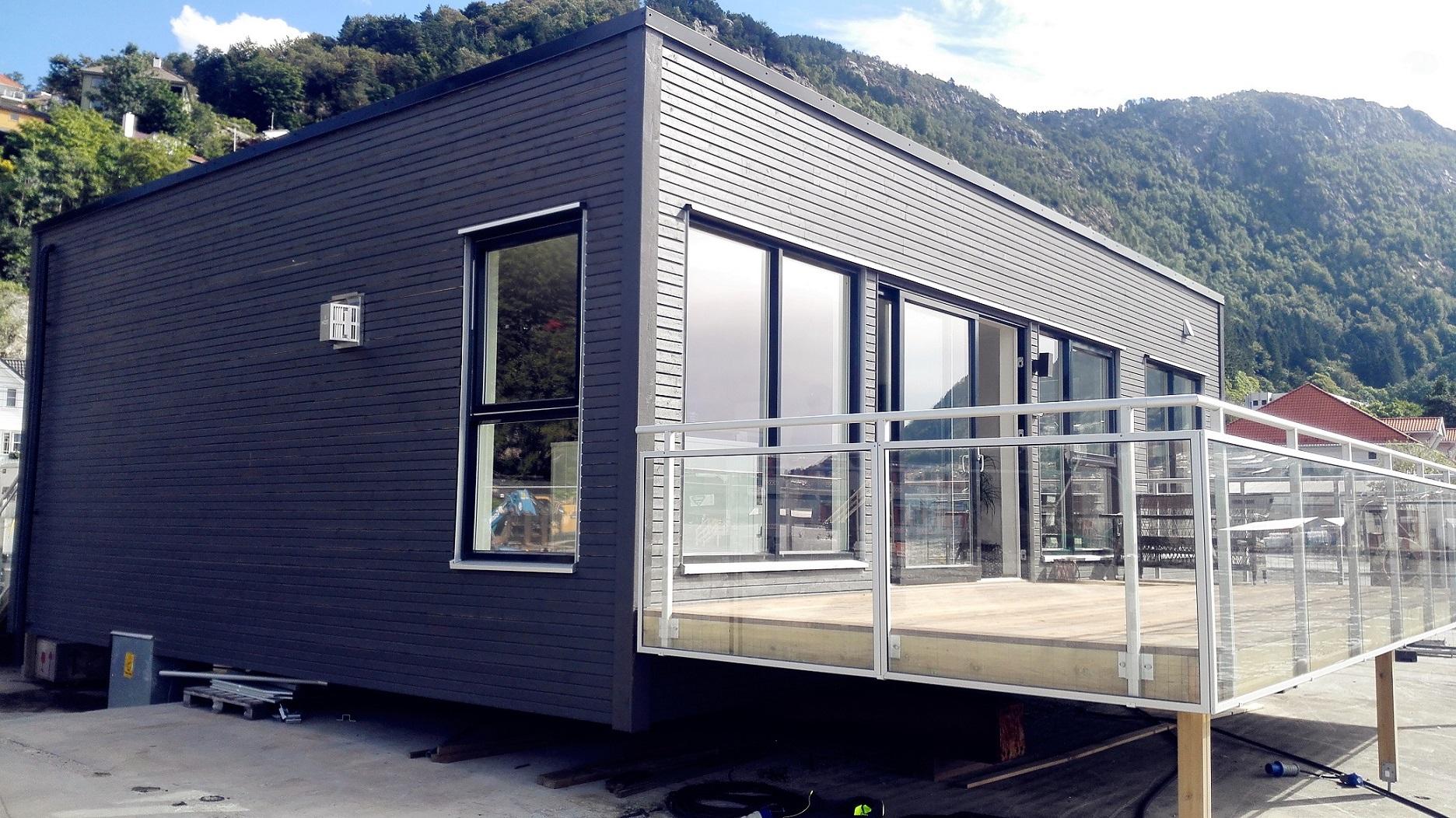 1 Floors Modular Residential Flat Roof Prefab House