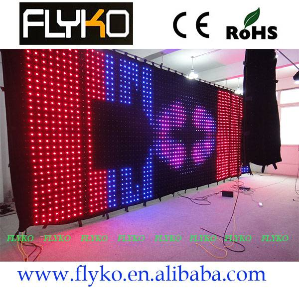 curtain display soft led cloth videos wholesale chin