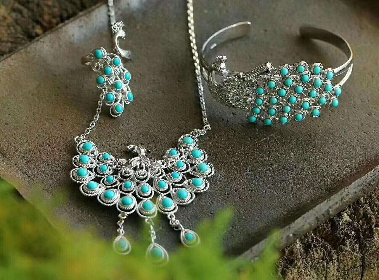 High quality jewelry sets wedding jewelry necklace rings earrings bracelets