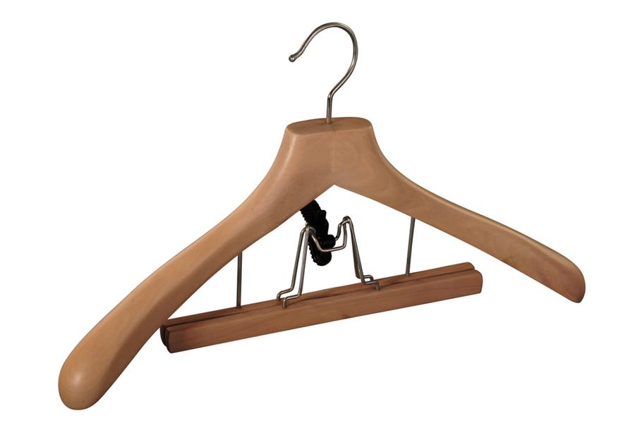 Deluxe coat hanger with skirt hanger luxury wooden hanger suit hanger pant hanger