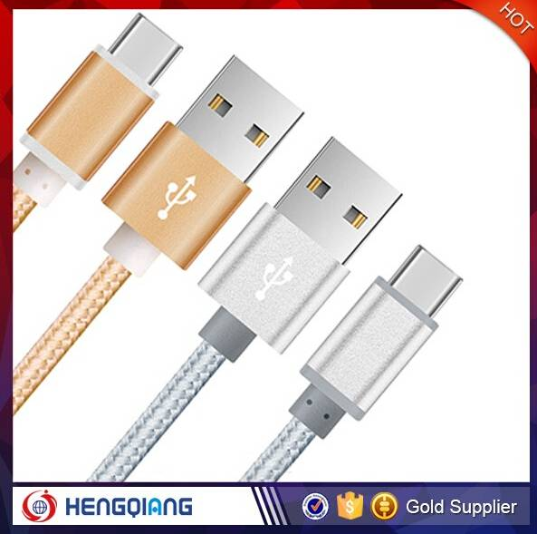 China factory wholesale fabric braided charging usb cable for mobile phone