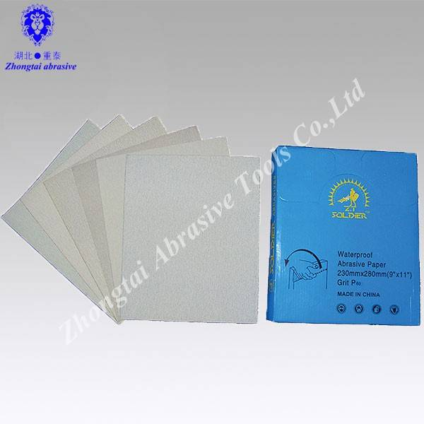 230*280mm p60-p600 coated sand paper