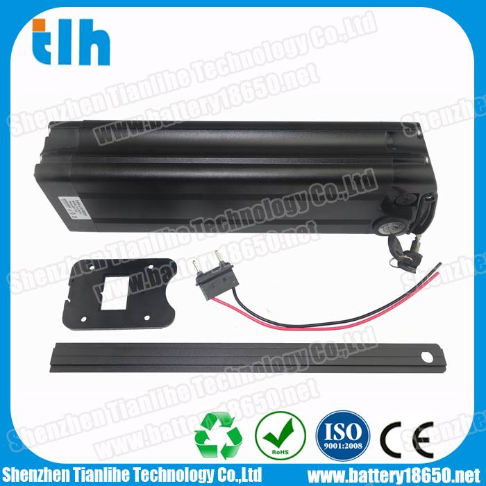 36V 10Ah Black Fish type electric bikes battery with BMS protection
