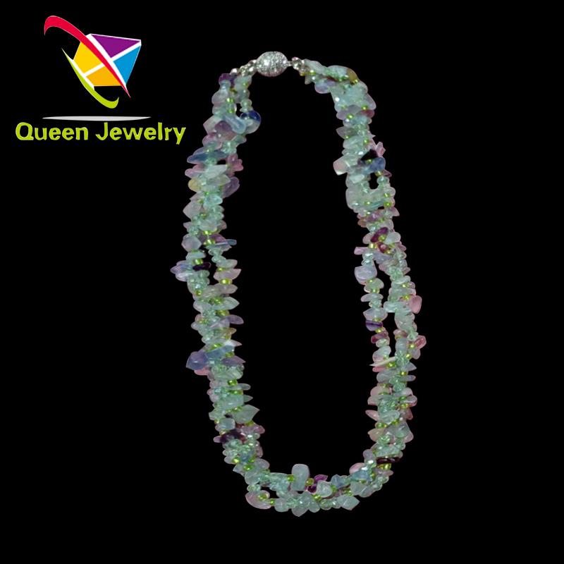 Cuban link Jewelry Latest Women pure natural gemstone Necklaces Handmade Bead stone Jewelry