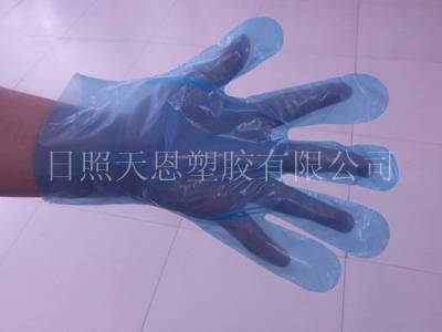 Clear disposable food service gloves