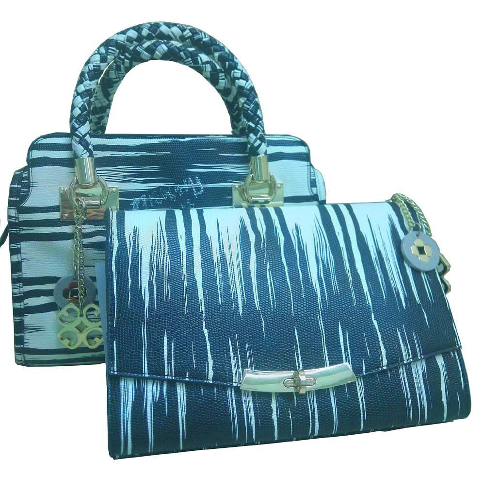 handbag with cosmetic bag