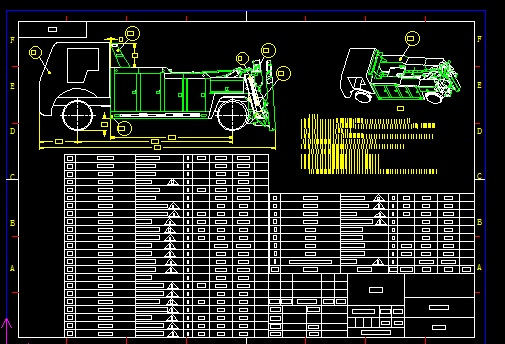 8T Wrecker Blueprint Drawing